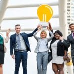 Business people with an idea for a business start up