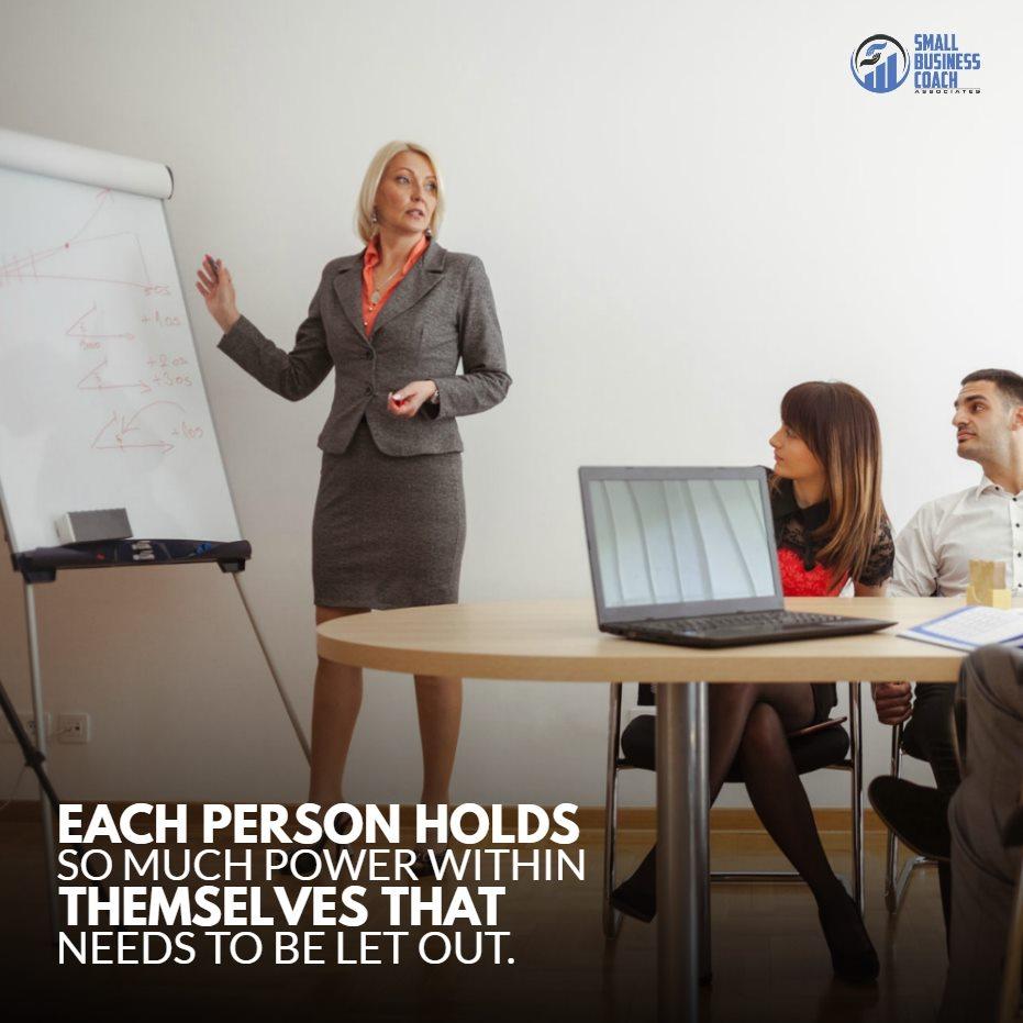 business consultant teaching