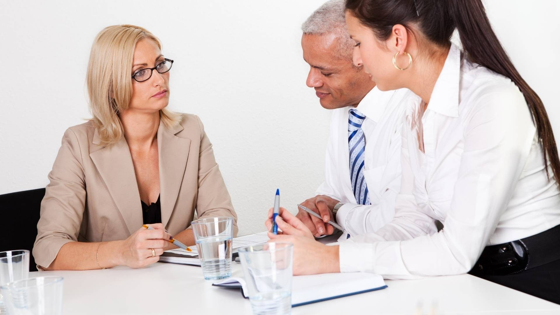 business consultant meeting